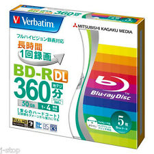 5 Verbatim 3d Blu Ray BD-R DL 4X Rohlinge dvd 50 GB Printable bluray