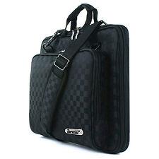 """Burnoaa 10"""" 10.1"""" Laptop Tablet  Case Sleeve Memory Foam Shoulder Bag Checked"""