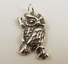 Sterling Silver Charm - OWL      0497