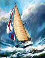 Marina Mirkovich Original Giclee On Canvas Ocean Victory Signed & Numbered Print