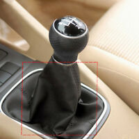 Black Leather Gear Shift Stick Gaiter Boot Proof Dust Cover For Universal Car BA