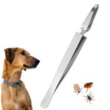 New Stainless Steel Tick Remover Tool Pet Cat Dog Fleas Lice Tweezers Clip