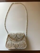 Vintage Antique Sterling Silver Filigre Coin Purse