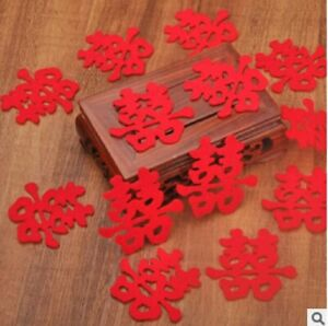 15 Red Chinese Double Happiness Words Decorations for Wedding Marriage New