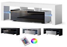 TV LOWBOARD SCHRANK TISCH BOARD HOCHGLANZ 110/130/160cm mit RGB LED-Beleuchtung