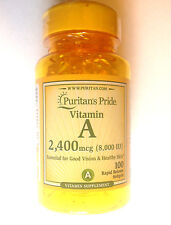 Vitamin A In the Form of Retinyl Palmitate 2400mcg (8,000 IU) 100 Pills Softgels