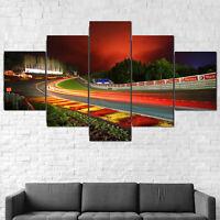 Spa Francorchamps F1 Circuit Canvas Print Framed 5 Pcs Wall Art Poster Decor