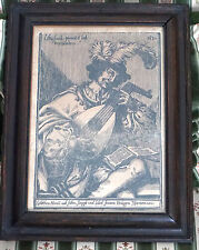 Gravure sur Bois d'Origine Allemande du 17e Siècle datée 1630