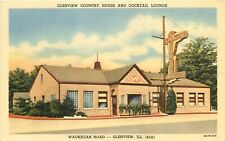 Linen Roadside Postcard Glenview IL Country House Restaurant & Cocktail Lounge