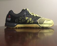 Reebok Crossfit Nano CF74 Training Running Shoes MENS 7.5 Black/Neon Yellow