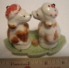 Vintage French Poodles Kissing Salt and Pepper Shakers***Trés Chic!***