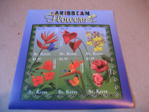 ST KITTS  2001 Caribbean Flora and Fauna-FLOWERS  SHEET