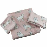 TT & Lola Cat Kitty 3 pc Bath Towel Hand Washcloth Set Pink and White