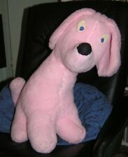 Pink Cute Fluffy Floppy Eared Seated Dog