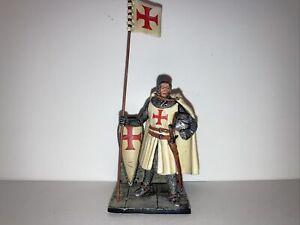metal toy soldiers. Knight Templer.  Saint Petersburg