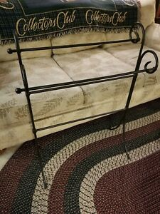 Longaberger Wrought Iron Foundry Collection Quilt Rack  Perfect