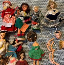 "Sleepy Eye Dolls Plastic/porc doll parts Vintage/assorted/50"" s up"