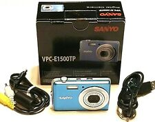 SANYO VPC-E1500TP Digital Camera 14.0 MP 4X Zoom 720p HD Touch Panel LCD