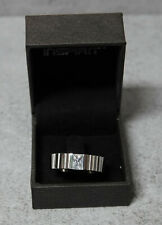 New Men's Stainless Steel Inspirit Ridged Ring With Zercon Size X