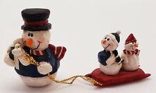 Eddie Walker Mini Christmas Snowman Pulling Kids Sled Midwest of Cannon Falls