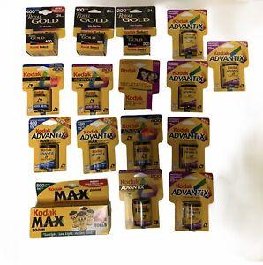 Lot Of 19 Rolls Of Kodak Film Max Zoom Royal Gold Advantax Exp. 2002