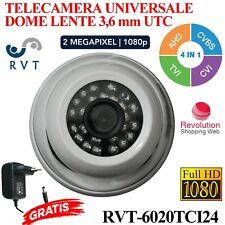 TELECAMERA DOME  3,6 MM  24 LED  PROFESSIONALE UTC UNIVERSALE FULL HD 2 MEGA P
