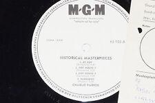 Charlie Parker-Historical Masterpieces-LP 1963 MGM PROMO archivio-copy MINT
