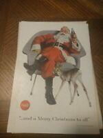 1956 AD   A MERRY CHRISTMAS TO ALL coca cola / Remington Rand ad