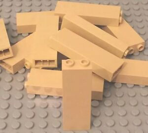 Lego 25 Pieces Tan 1x2x5 Brick / Building Wall Columns Support Bulk Parts Lot