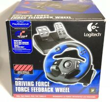 LOGITECH Driving Force Feedback STEERING WHEEL PS2 PS3 Video Game Controller