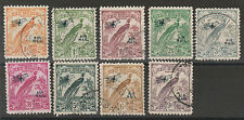NEW GUINEA 1932 UNDATED BIRD AIRMAIL RANGE TO 9D USED