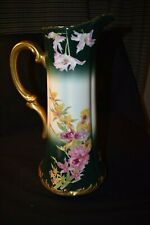 Beautiful Antique Limoges France tall pitcher/tankard. Sabols de Venus pattern