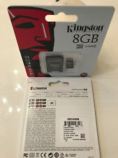 Kingston 8 GB Micro SD SDHC Speicherkarte memorycard Klasse 4TF Card mit Adapter