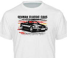 T-Shirt weiss Color Oldtimer R129 1989 -1993 300SL - 500SL Roadster Mercedes