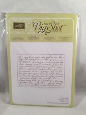 PRETTY PRINT Embossing Folder Stampin Up New Script Sizzix Big Shot
