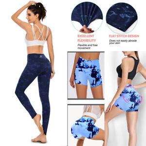Damen Push Up Yoga Hosen Jogginghose Fitness Stoffhose Hohe Taille Sport Leggins