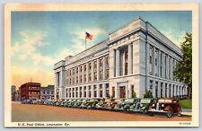 U.S. Post Office Building in Lexington, Kentucky Fayette County Linen Postcard