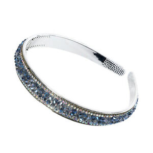 Women's Rhinestone Crystal Headband with Teeth Thin Hair Band Hoop Accessories