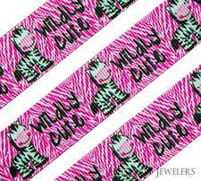 "High Quality 7/8"" ""Wildly Cute"" Zebra Hair Bow Printed Grosgrain Ribbon"