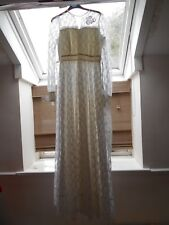 Genuine Vintage Wedding Dress Gown 70s Retro Victorian Edwardian Style UK 8-10