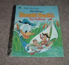 1990 Walt Disney Donald Duck'S Toy Sailboat Chip & Dale Little Golden Book