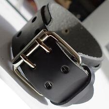 Mens Belt Buckle Leather Surfer Wristband Bracelet