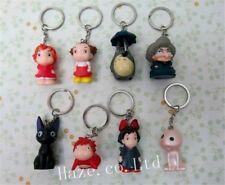 8pcs/Set My Neighbor Totoro Spirited Away Cat Kiki's PVC Keychain Keyring 5-6cm