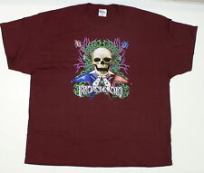 NEW Port and Company Ultra Cotton Mens Rock On Graphic Tee Maroon 3XL 02458