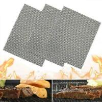 Barbecue Grill Stainless Steel Non-Stick Mesh Wire Cook Outdoor BBQ Mats Ne I9U4