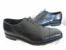LOAKE 1880 'ALDWYCH' BLACK LEATHER OXFORDS SZ UK 9 ½ US 10 MADE IN ENGLAND
