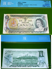ERROR - MISCUT CORNER - Replacement *A/A 1973 Bank of Canada $1 -UNC  - Scarce
