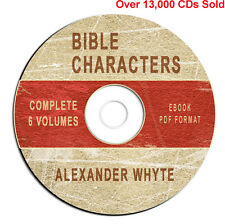 BIBLE CHARACTERS Alexander Whyte-Bible Commentary-ALL 6 VOLUMES-CD eBook PDF-NEW
