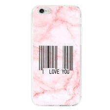 Rosa Marmor Strichcode TPU Handy Schutzhülle Tasche Für iPhone Samsung Huawei
