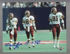 Ricky Sanders & Gary Clark Redskins Signed 8 X 10 Color Photo - SCH Auth